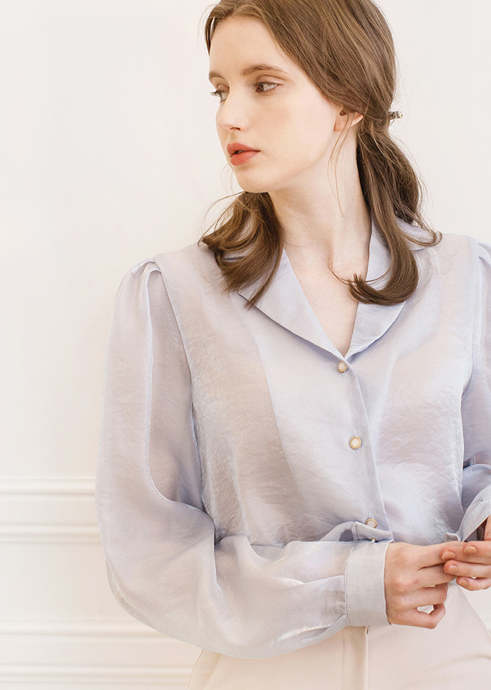 Pearl Blouse (Blue)